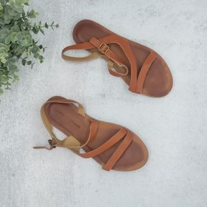 Lucky Brand Brown Strappy Sandals Size 6.5